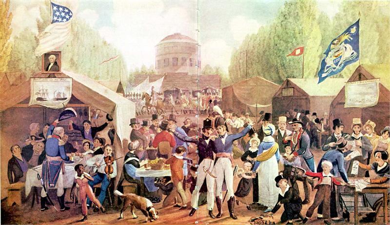week 6 4th of july 1819 philadelphia john lewis krimmel