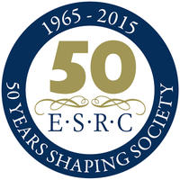 esrc 50th anniversary logo rgb blue white gold